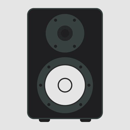 Modern acoustic on white background. Musical speaker. Vector illustration design.