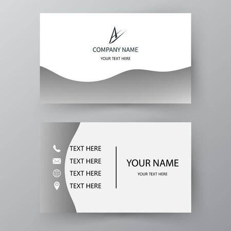 Modern presentation card. Vector business card. Visiting card for business and personal use. Vector illustration design. Vetores