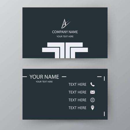 Modern presentation card. Vector business card. Visiting card for business and personal use. Vector illustration design. Ilustración de vector