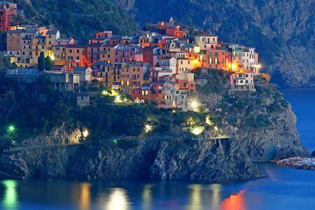 cinque terre: Italian sea village Manarola in Cinque Terre  Stock Photo