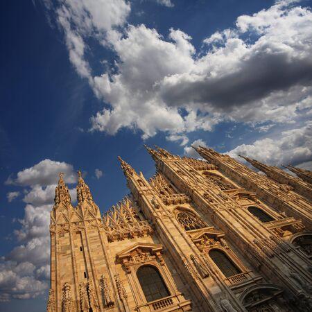 Cathedral Facade under a Cloudy Sky  photo