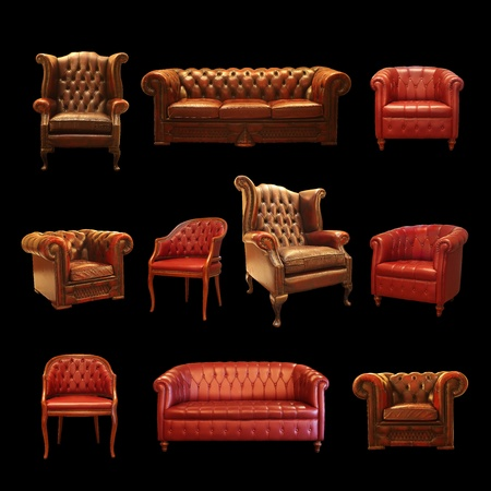 leather chair: Sitting Collection  Stock Photo