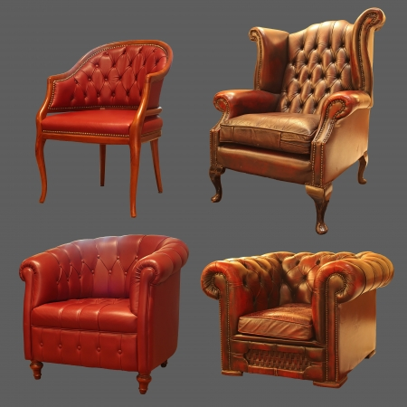 4 Ancient Armchair  Stock Photo - 14167591