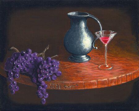 realism: Wine Stock Photo