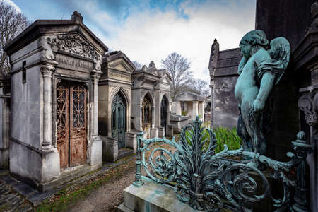 French Monumental Tombs at Père Lachaise, Paris