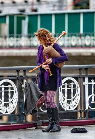 Street bagpipes in Bilbao