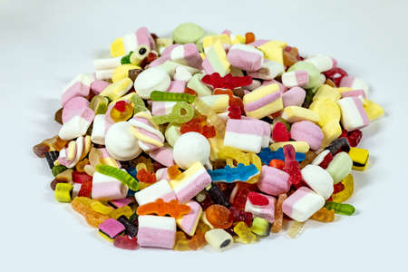 A hill made of candies Stock Photo