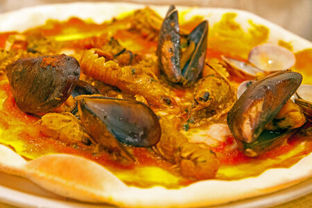 seafruit: seafood pizza