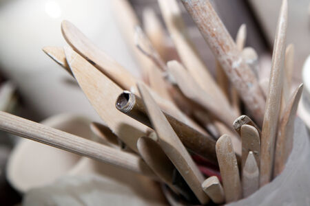 palette knife: accessories for a potter