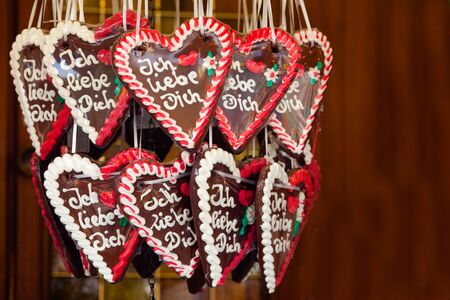 Gingerbread Hearts with I love you
