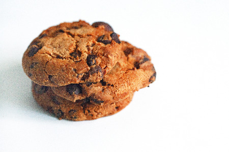 American cookies on a white background