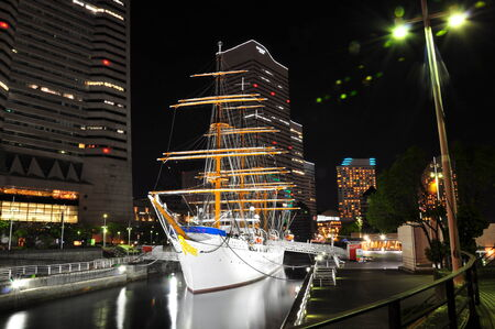 ferriswheel: Yokohama, Giappone-Minato-Mirai a night.nihonmaru
