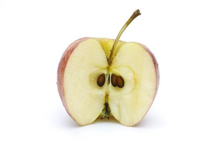 has been: Apple has been cut in half
