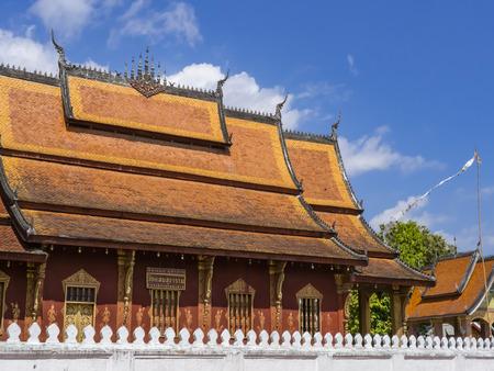 Wat Sen Soukaram from Outside View, Luang Prabang, Laos