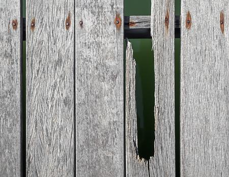 Old Broken Wooden Bridge Texture Background on Sunny Day