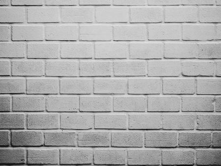 White grunge brick wall background. White old brick wall pattern texture background.