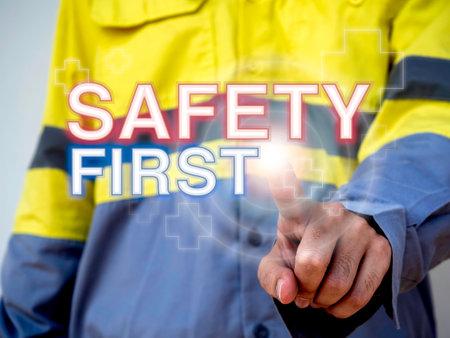Work safety concept. Word