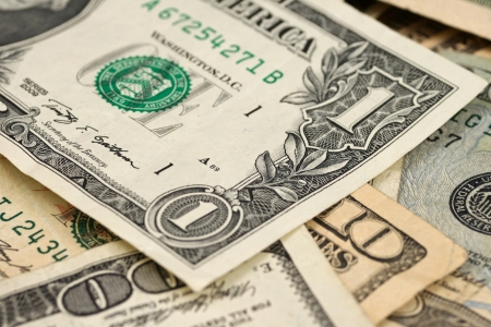 Mixed U S  Currency Stock Photo