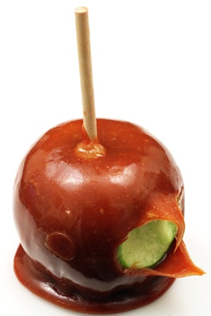 Carmel Apple Close Up 写真素材