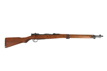 antique rifle: Antique Rifle Isolated On A White Background