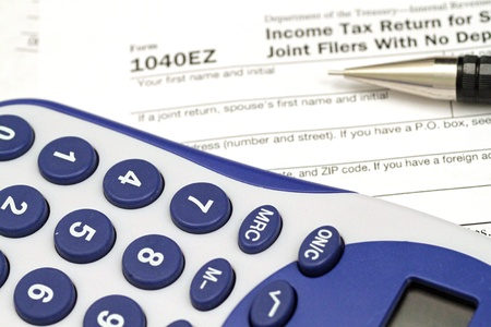 Tax Documents With Accessories Stock Photo - 22495743
