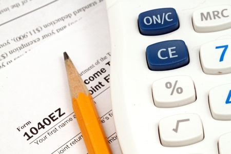 Tax Documents With Accessories Stock Photo - 22495744