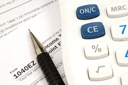 Tax Documents With Accessories Stock Photo - 22495747
