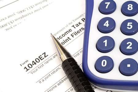 Tax Documents With Accessories Stock Photo - 22495750