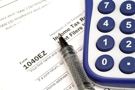 Tax Documents With Accessories Stock Photo - 22495751