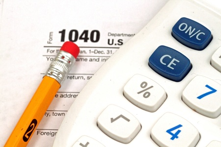 Tax Documents With Accessories Stock Photo - 22495757