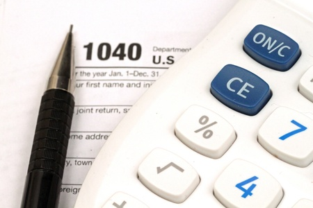Tax Documents With Accessories Stock Photo - 22495760