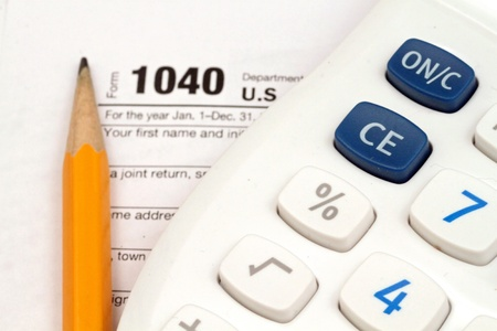 Tax Documents With Accessories Stock Photo - 22495762