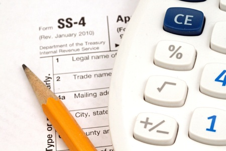 Tax Documents With Accessories Stock Photo - 22495764