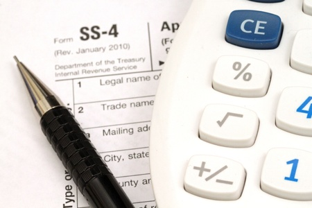 Tax Documents With Accessories Stock Photo - 22495768