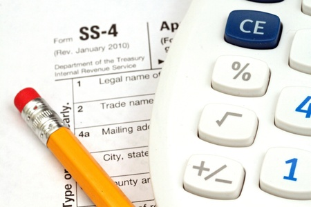 Tax Documents With Accessories Stock Photo - 22495789