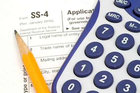 Tax Documents With Accessories Stock Photo - 22495792