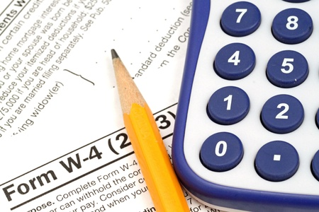 Tax Documents With Accessories Stock Photo - 22495796