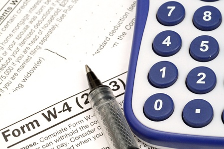 figuring: Tax Documents With Accessories