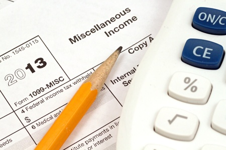 Tax Documents With Accessories Stock Photo - 22495807