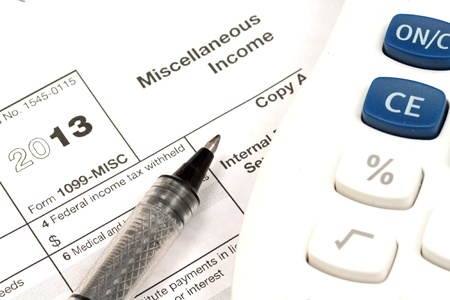 Tax Documents With Accessories Stock Photo - 22495830