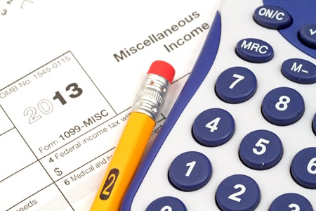 Tax Documents With Accessories Stock Photo - 22495832