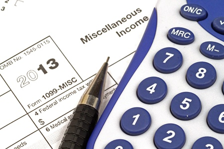 Tax Documents With Accessories Stock Photo - 22495837