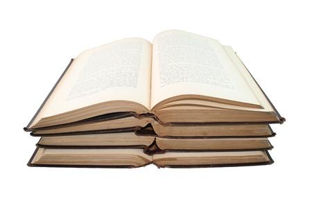 Old Books Isolated On White Archivio Fotografico
