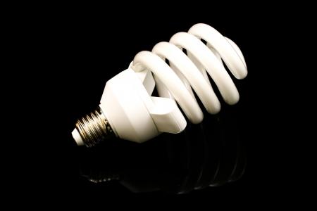 Compact Fluorescent Close Up Stock fotó