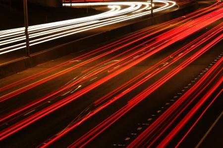 Lightlines On A Highway Imagens