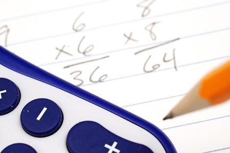Math problems up close photo