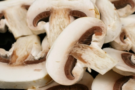 gills: White Button Mushrooms
