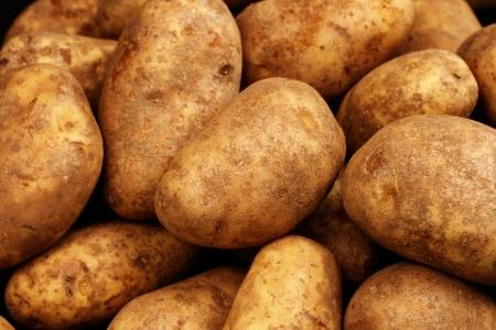 Russet Potatoes Close Up