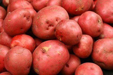 赤いジャガイモをクローズ アップ 写真素材 - 22496342