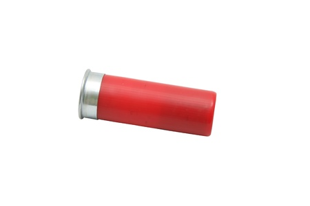 Shotgun Shell Isolated On White Stock fotó